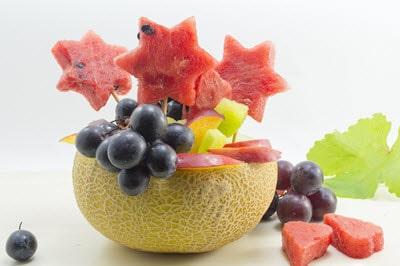 Obst als Tischdeko