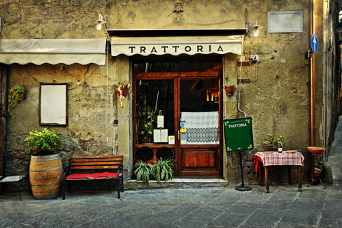 Restaurant in Italien