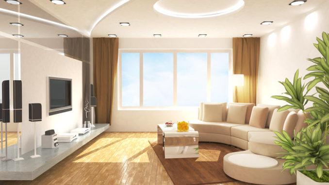 Deckenbeleuchtung im Wohnzimmer