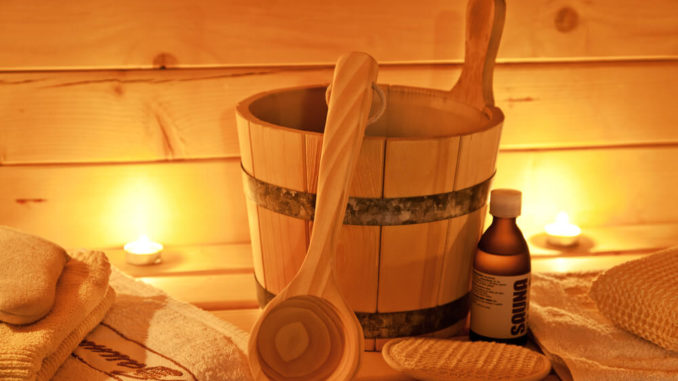 Saunazubehör in finnischer Sauna