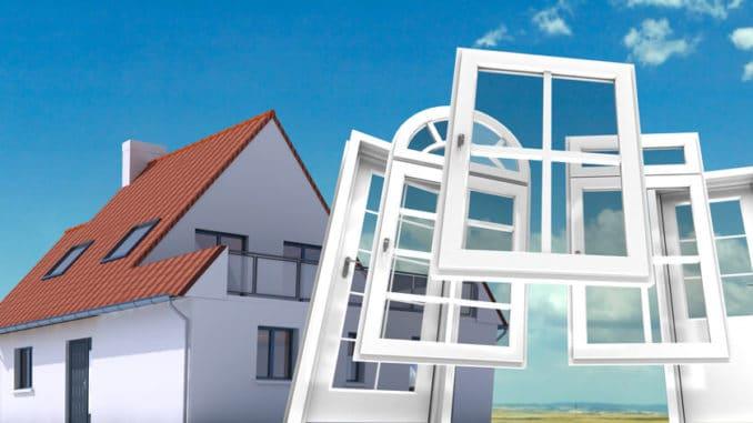 Passivhaus-Fenster aus Kunststoff