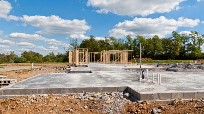 Eine Grundplatte für ein Haus