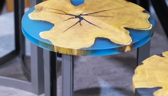 Stühle aus Epoxidharz